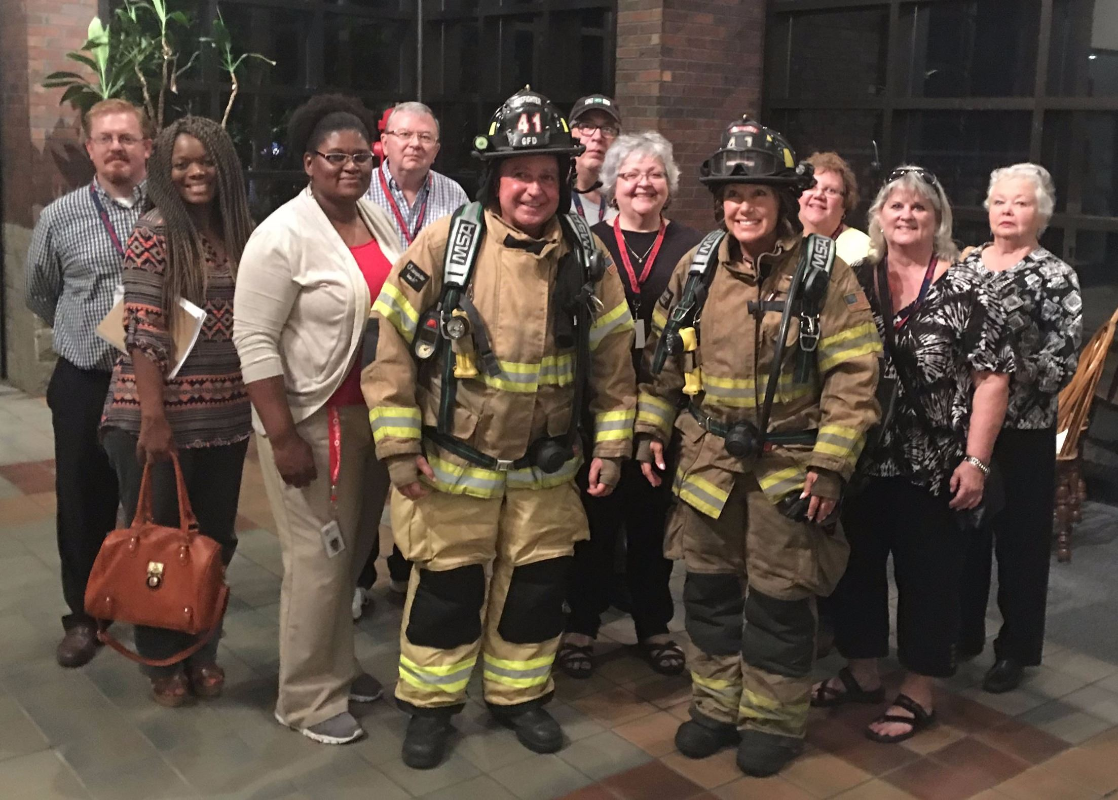 Group picture at Fire Hall